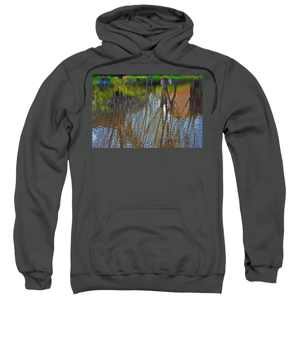 Pond Sweatshirt featuring the photograph Pond Reflection by Alice Markham