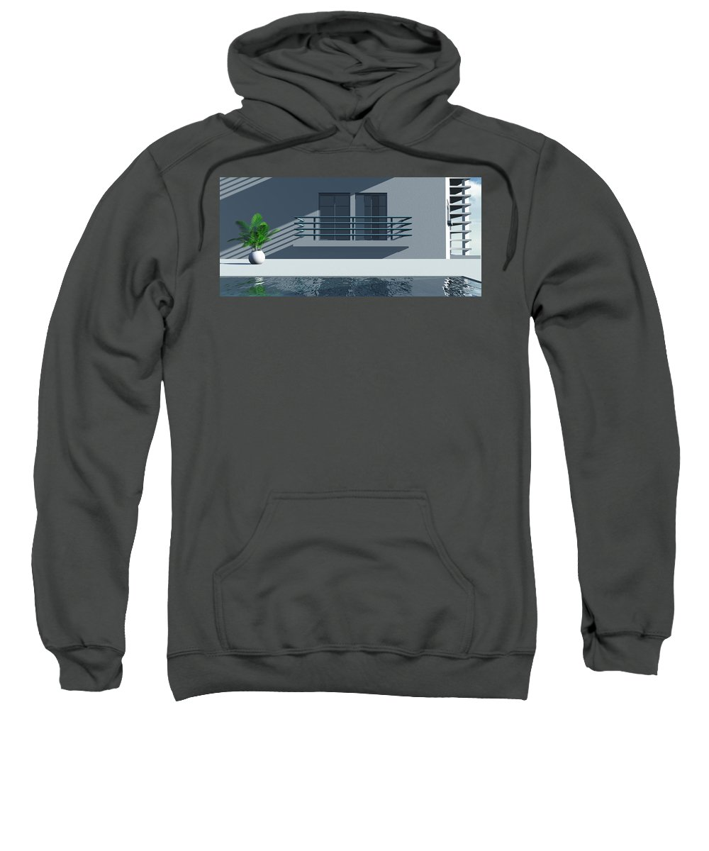 Abstract Sweatshirt featuring the digital art Pool Side by Richard Rizzo