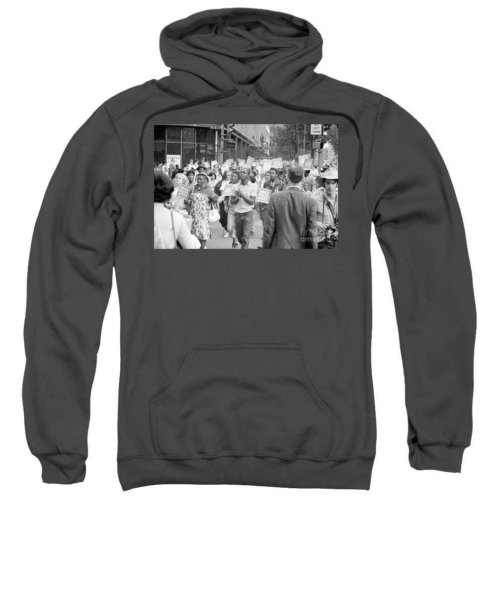 1968 Sweatshirt featuring the photograph Poor Peoples March, 1968 by Granger