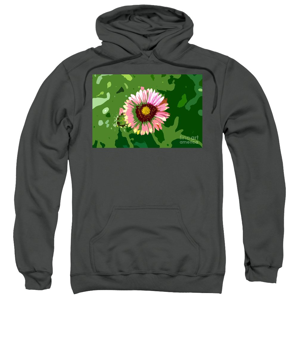 Flower Sweatshirt featuring the photograph Pop Flower Work Number 23 by David Lee Thompson