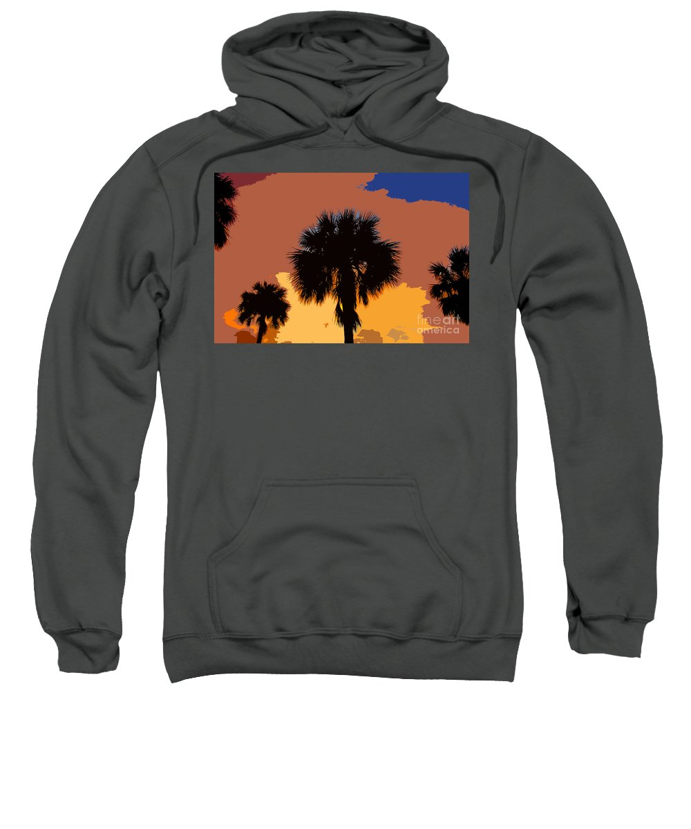 Palm Trees Sweatshirt featuring the photograph Pop Palms by David Lee Thompson