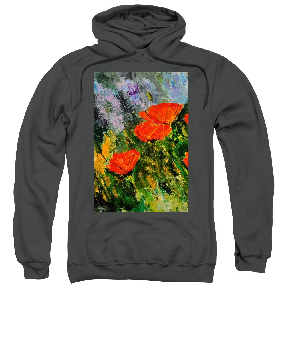 Flowers Sweatshirt featuring the painting Poppies 107 by Pol Ledent