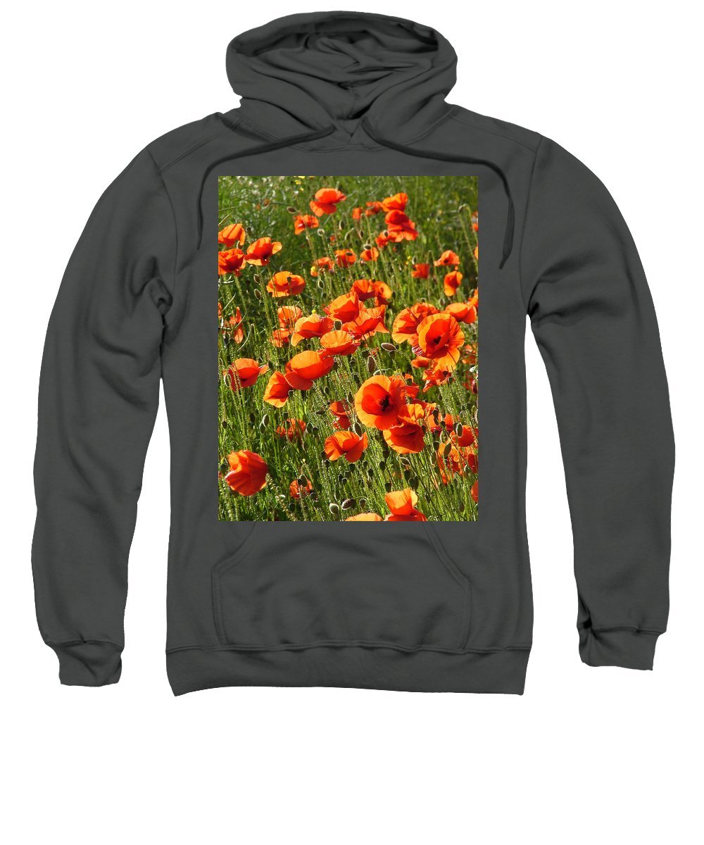 Poppies Sweatshirt featuring the photograph Poppies by Bob Kemp