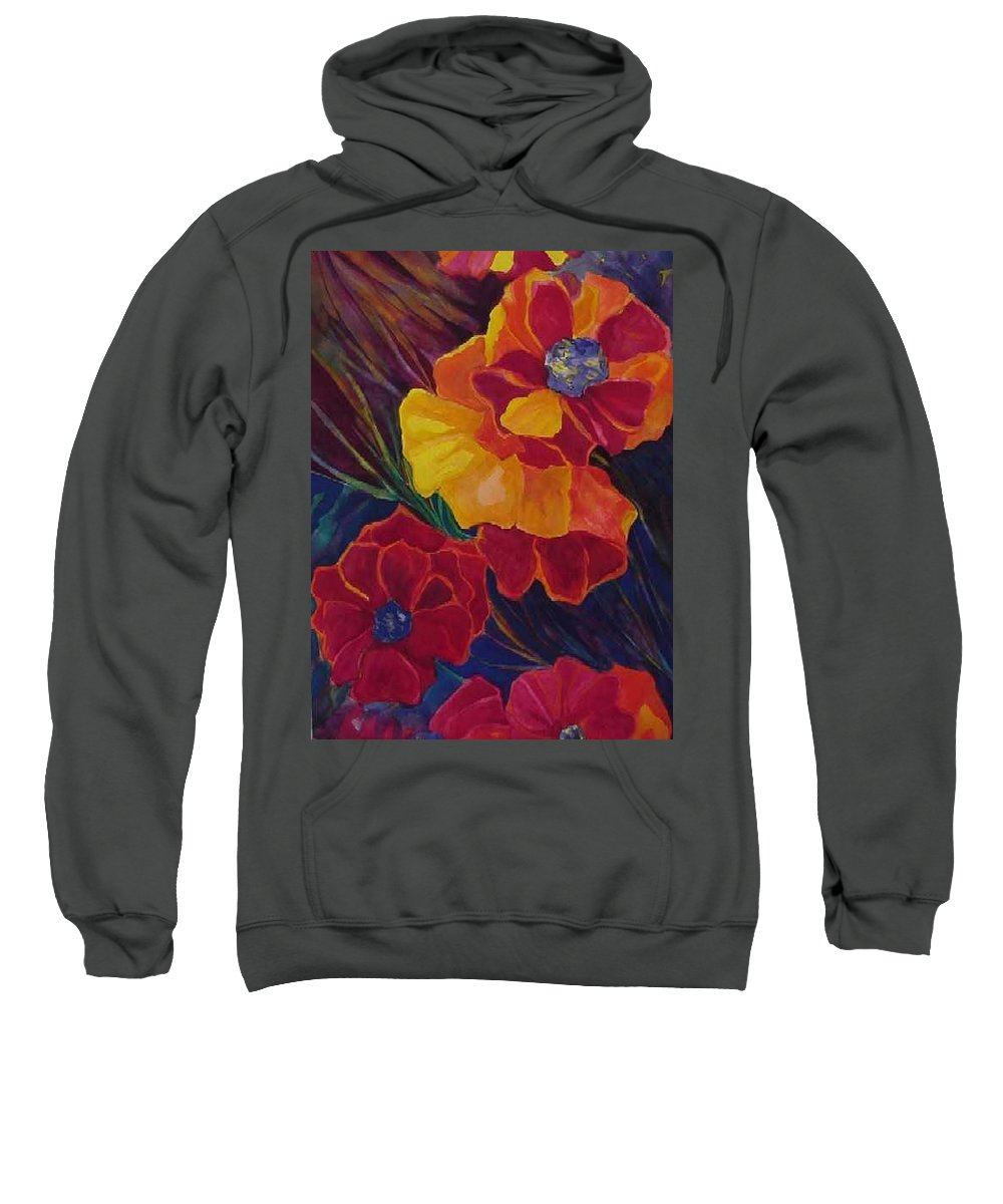 Flowers Sweatshirt featuring the painting Poppies by Carolyn LeGrand