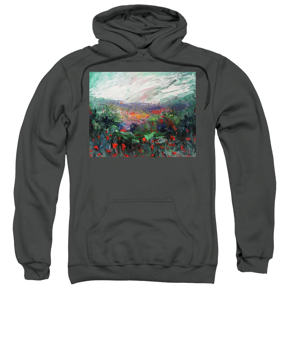Flowers Sweatshirt featuring the painting Poppy Dream by Shannon Grissom