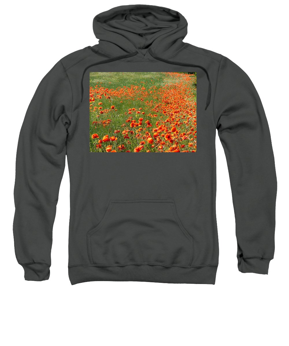 Poppy Sweatshirt featuring the photograph Poppy Field by Bob Kemp