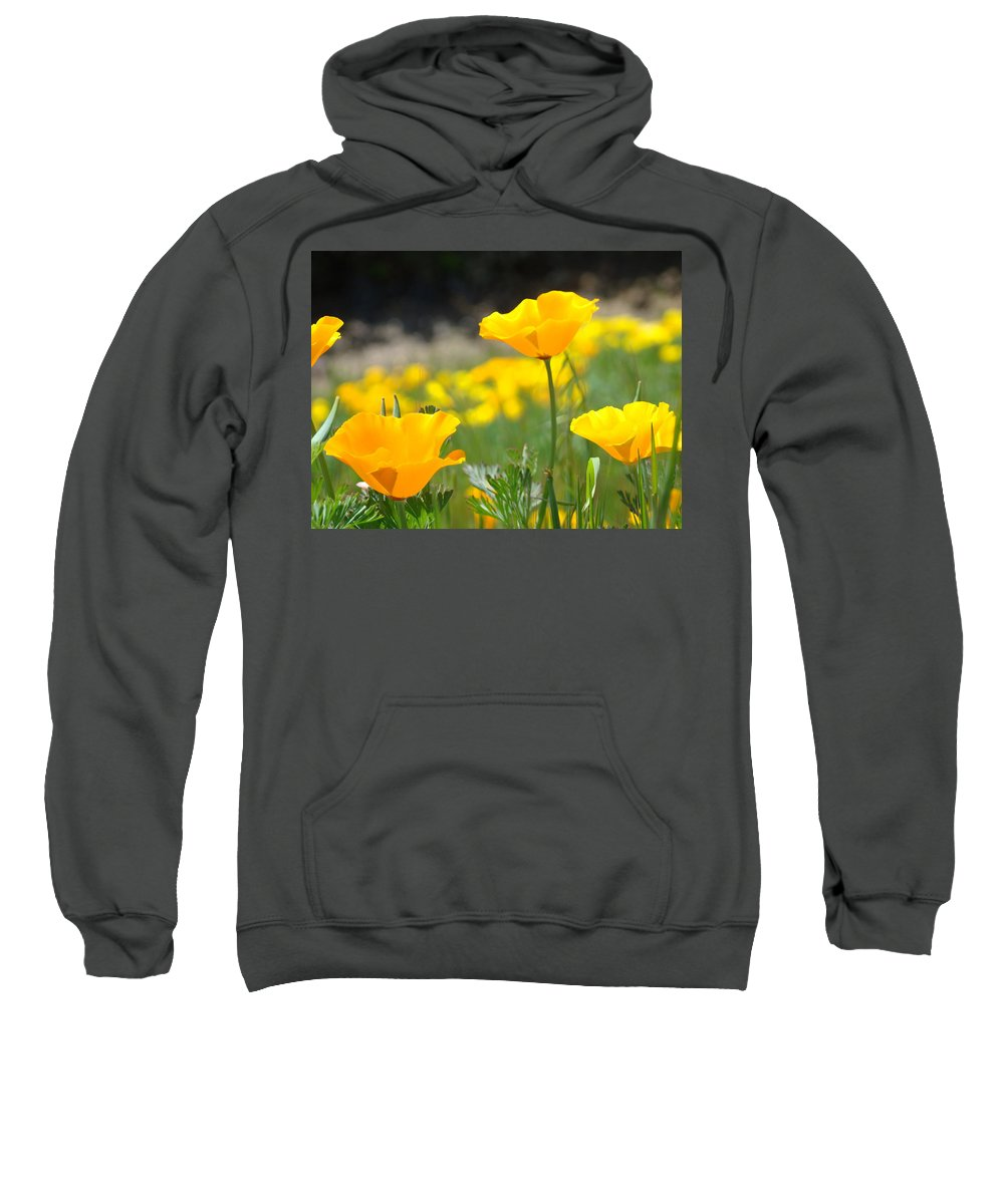 �poppies Artwork� Sweatshirt featuring the photograph Poppy Flower Meadow 11 Poppies Art Prints Canvas Framed by Baslee Troutman