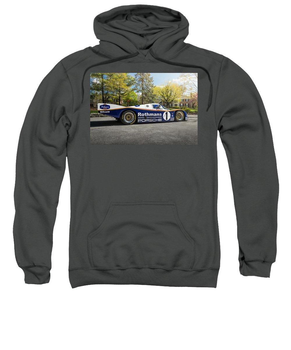 Porsche Sweatshirt featuring the photograph Porsche 962c by Kyle Hinderer