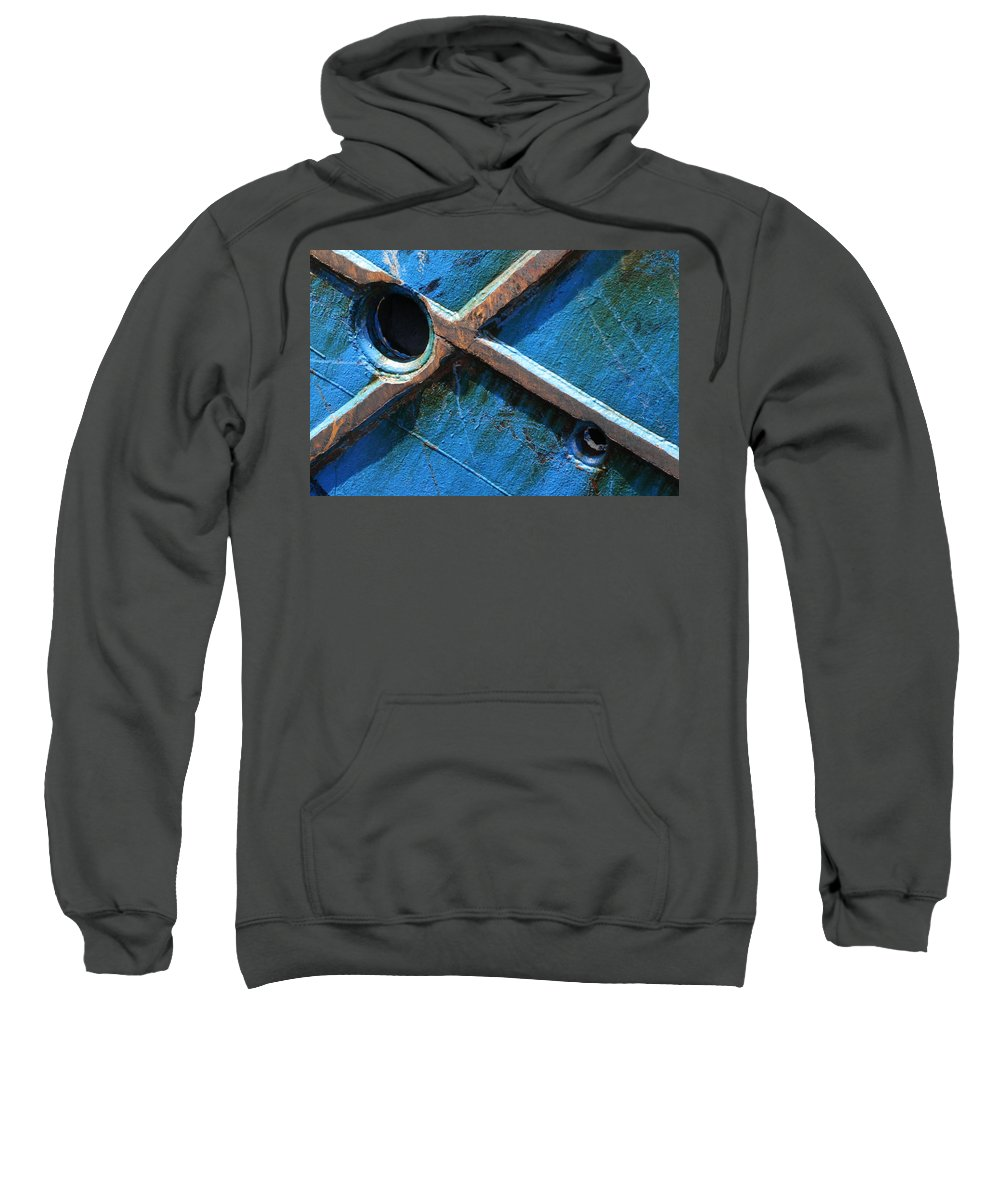 Boat Sweatshirt featuring the photograph Port Cross by Adele Van Schalkwyk