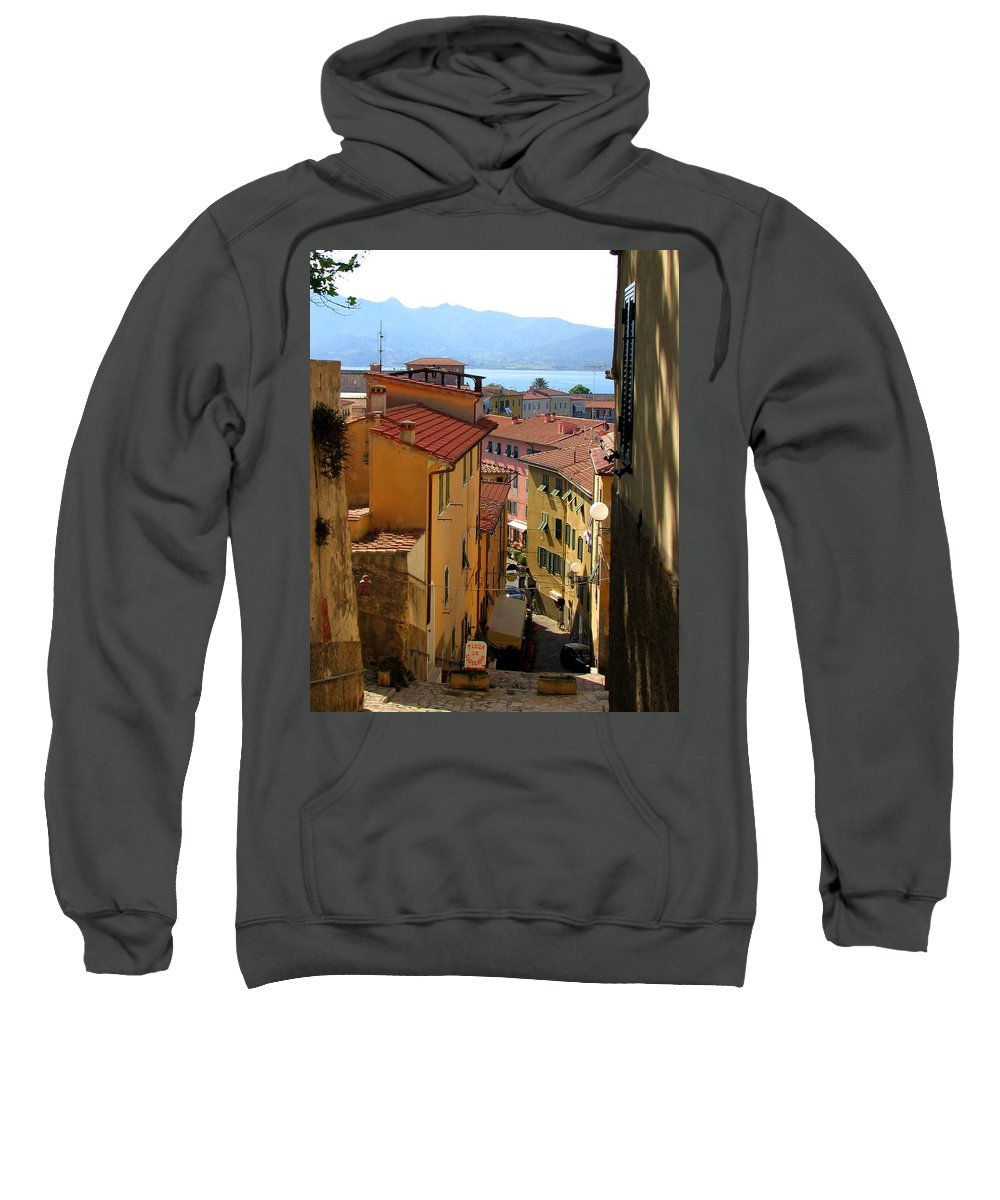 Portoferraio Sweatshirt featuring the photograph Portoferraio Elba by Carla Parris