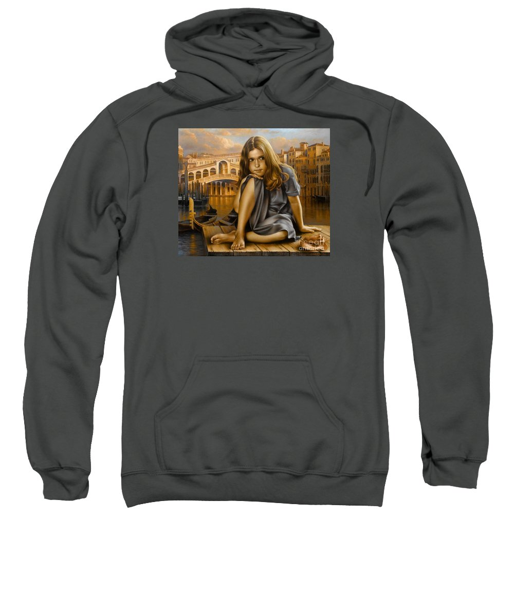 Portrait Sweatshirt featuring the painting Portrait by Arthur Braginsky