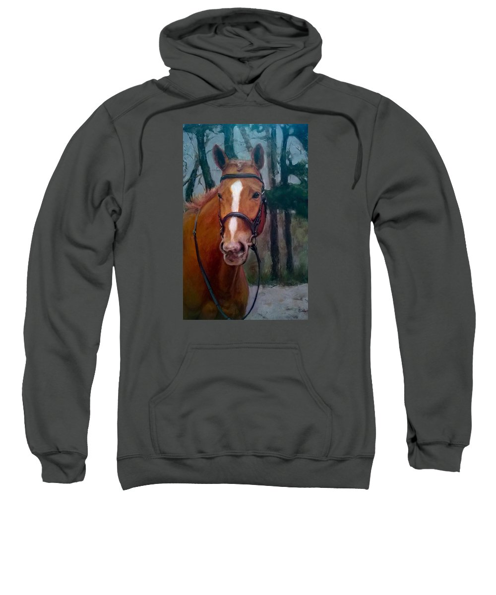 Horse Sweatshirt featuring the painting Portrait Of A Horse by Dorothy Siclare