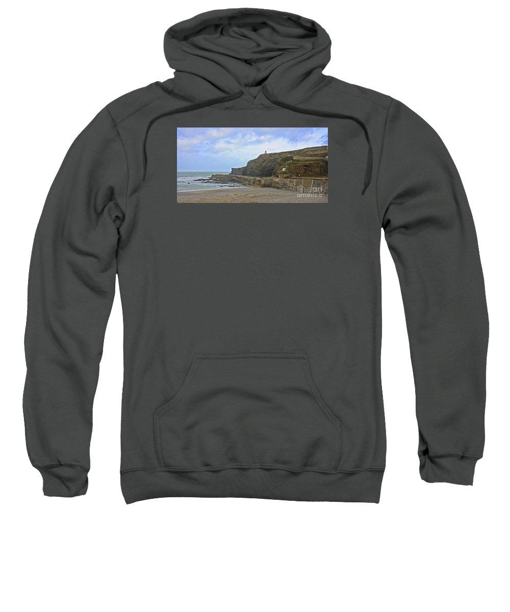 Portreath Sweatshirt featuring the photograph Portreath Cornwall by Terri Waters