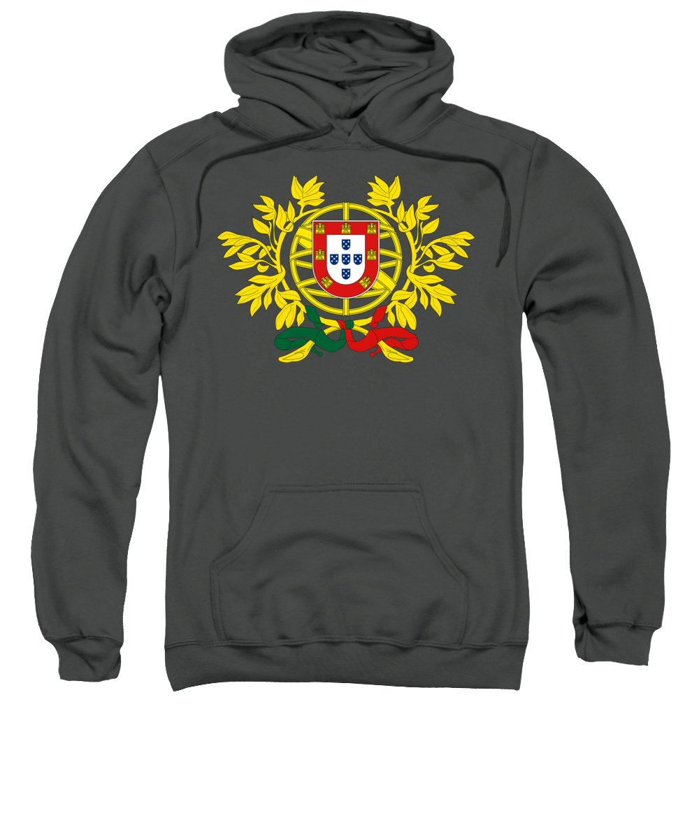 Crest Sweatshirt featuring the mixed media Portugal Crest by Portugal crest
