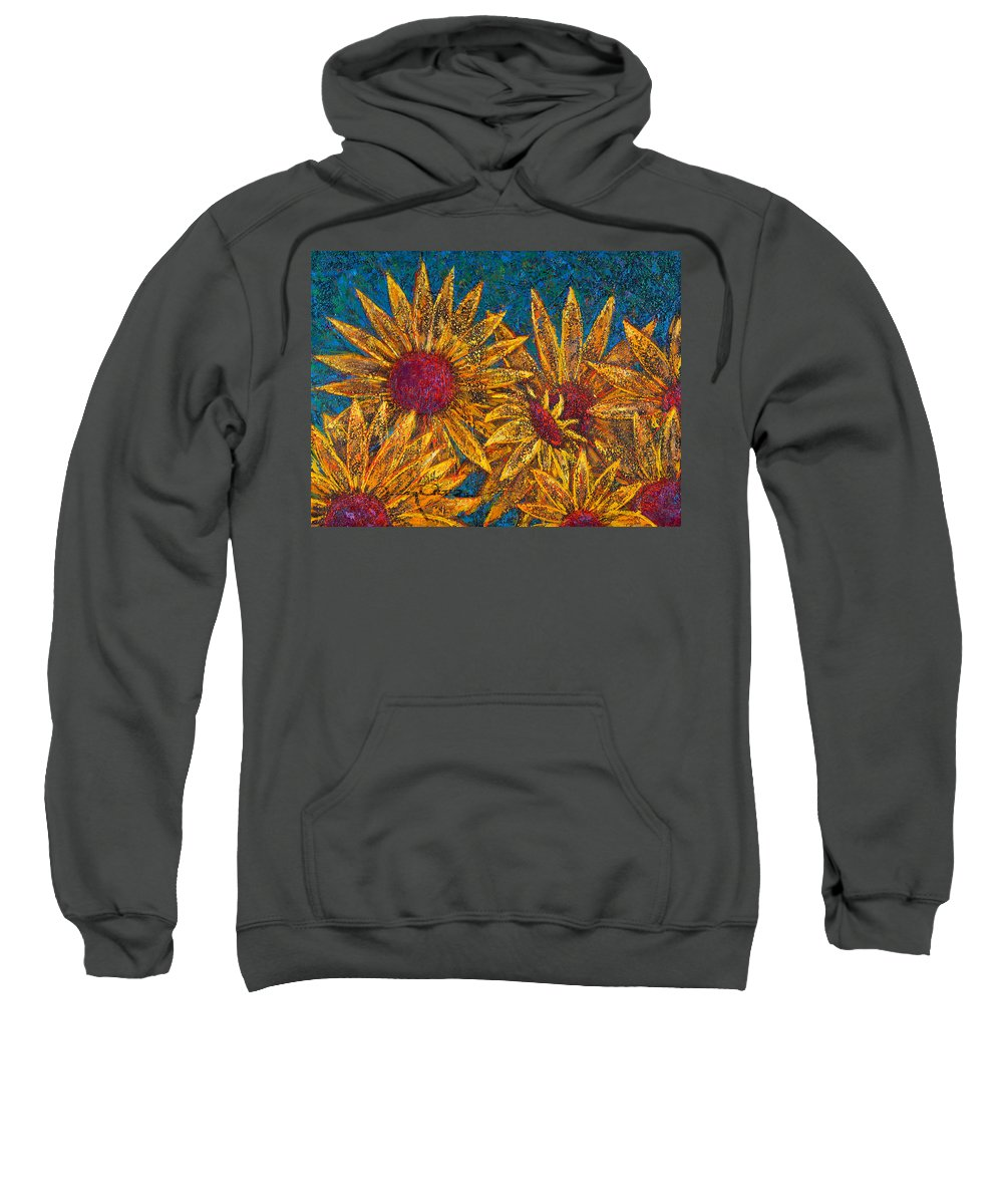 Flowers Sweatshirt featuring the painting Positivity by Oscar Ortiz