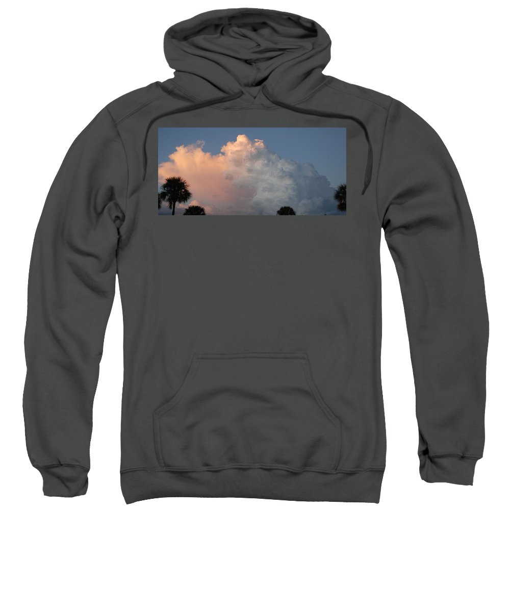 Clouds Sweatshirt featuring the photograph Post Card Clouds by Rob Hans