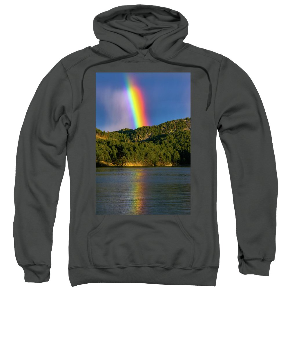 Rainbow Sweatshirt featuring the photograph Pot Of Gold by Lowlight Images