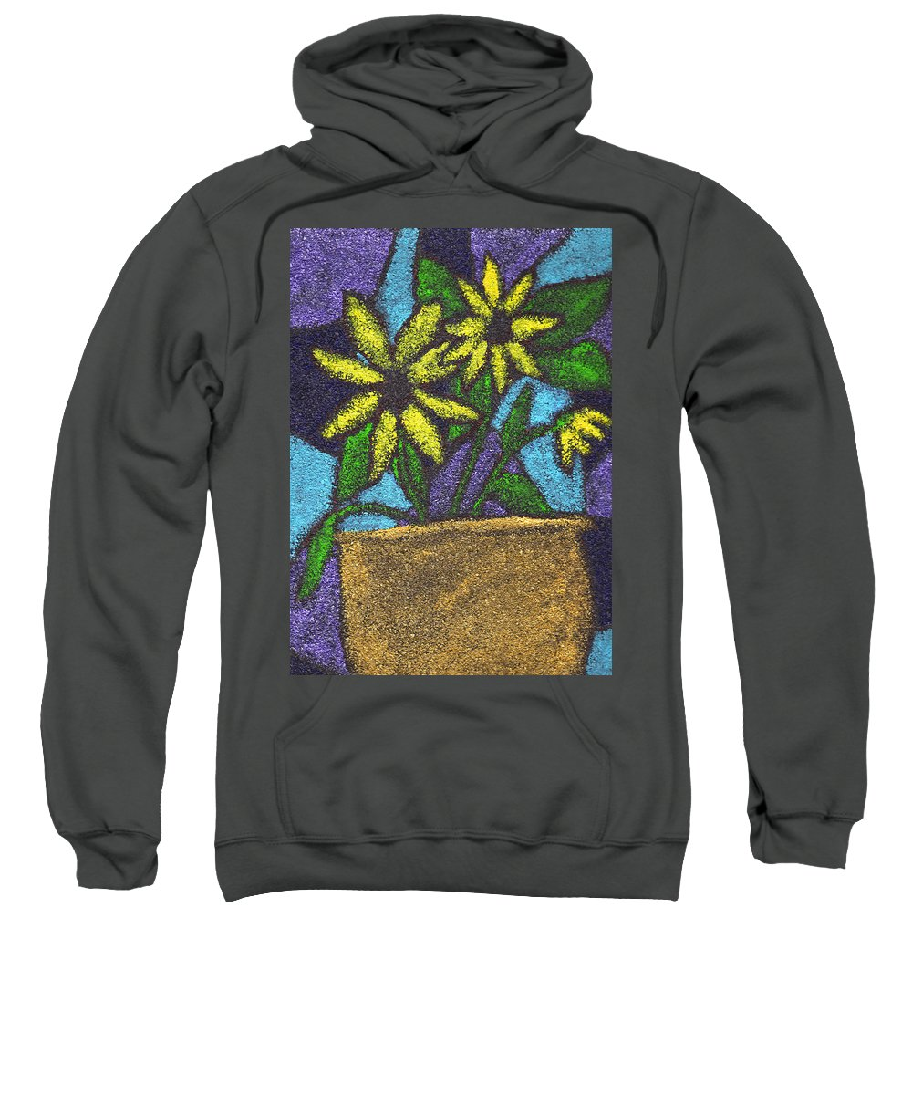 Flower Sweatshirt featuring the painting Pot Of Gold by Wayne Potrafka