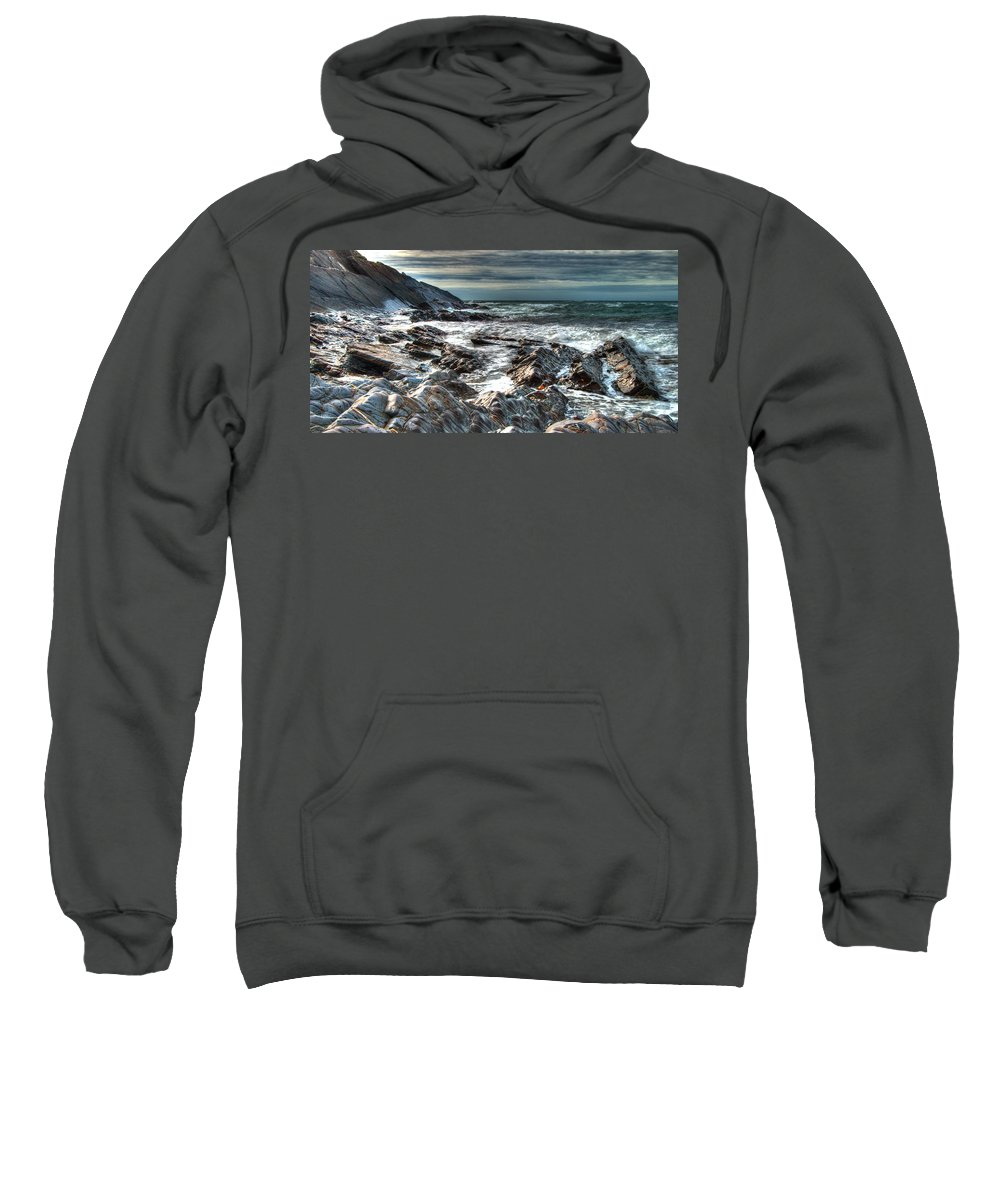 Atlantic Sweatshirt featuring the photograph Power Of The Atlantic by Rob Hawkins
