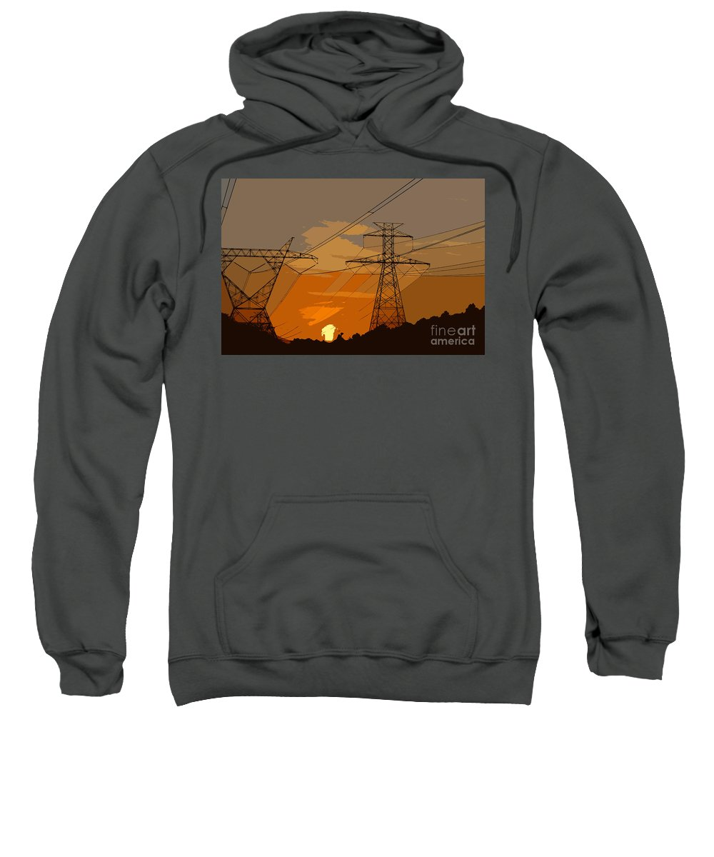 Power Sweatshirt featuring the painting Power To The People by David Lee Thompson