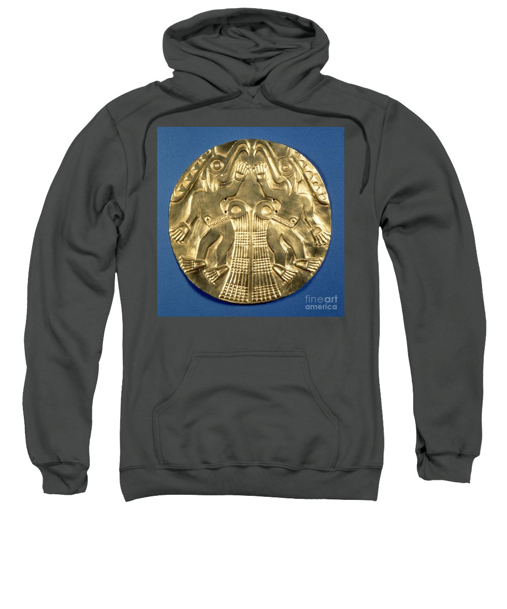 1000 Sweatshirt featuring the photograph Pre-columbian Gold, 1000 Ad by Granger