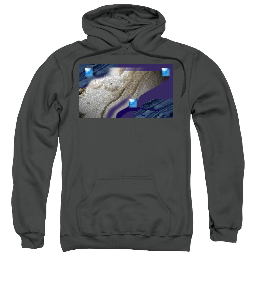 Abstract Sweatshirt featuring the digital art Prelude To A Dream by Steve Karol