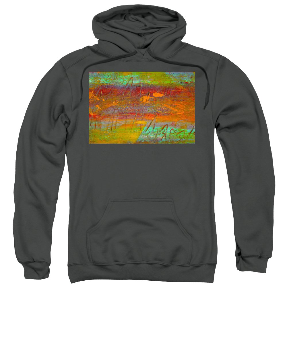 Abstract Sweatshirt featuring the painting Prelude To A Sigh by Wayne Potrafka
