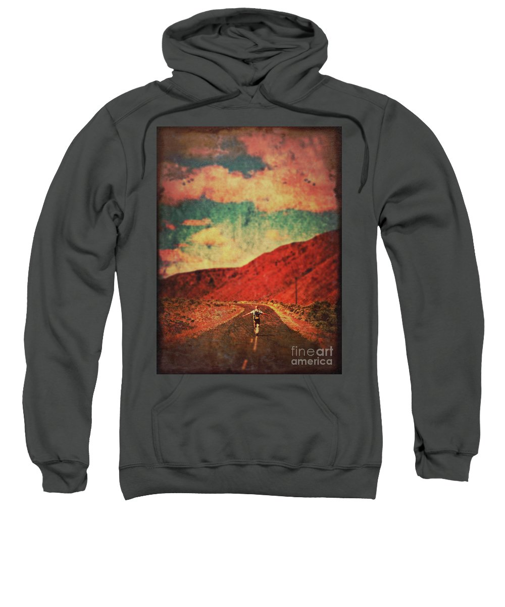 Landscape Sweatshirt featuring the photograph Preparing For Take-off by Tara Turner