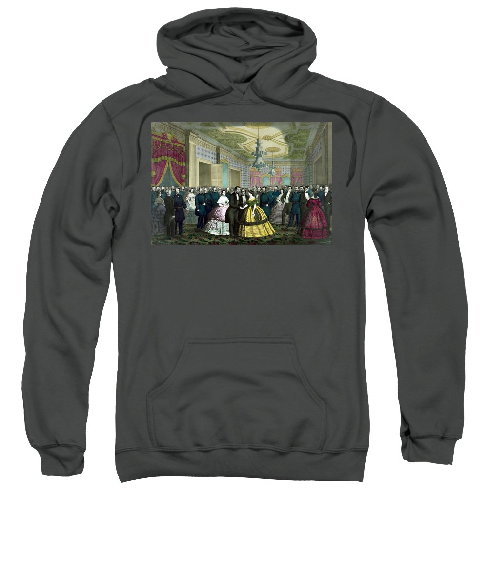 Abraham Lincoln Sweatshirt featuring the painting President Lincoln's Last Reception by War Is Hell Store