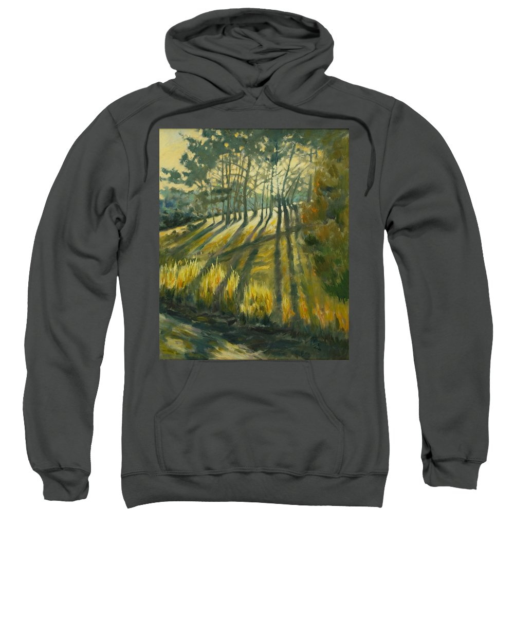 Trees Sweatshirt featuring the painting Presidio by Rick Nederlof