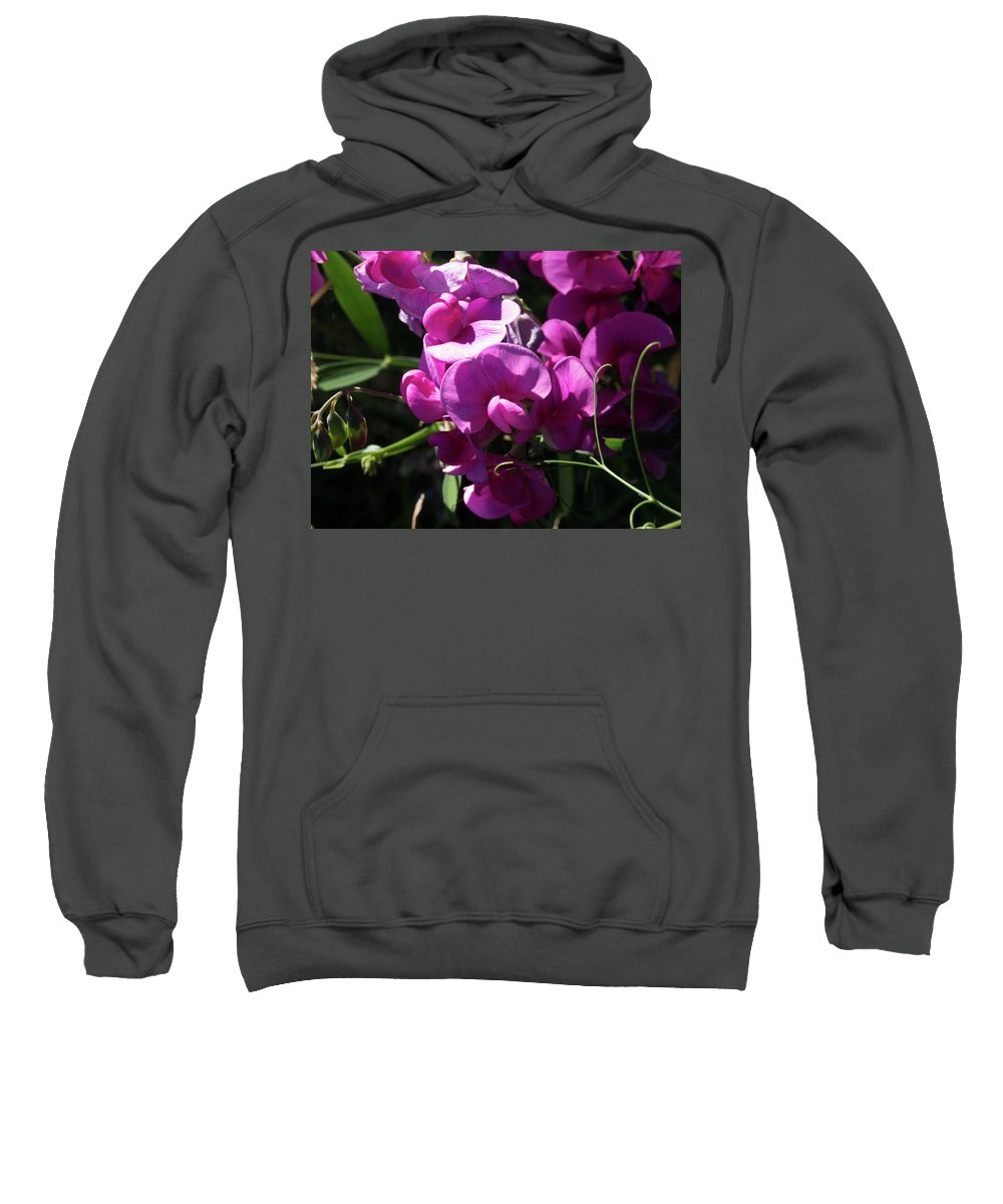 Flower Sweatshirt featuring the photograph Pretty Weed by Kathy Benham