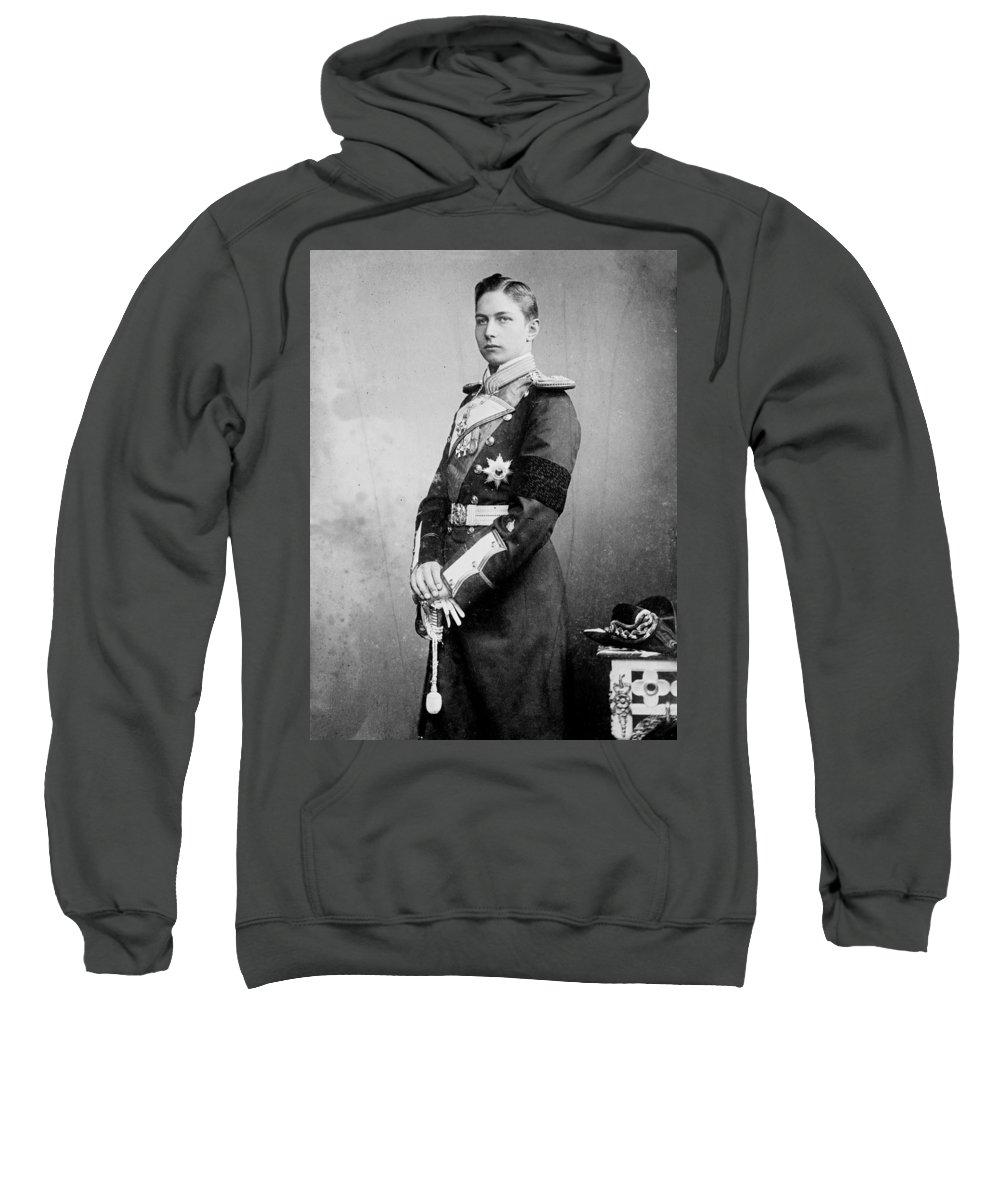 Skkh Prinz Adalbert Hohenzollern Von Preussen Und Deutschland Sweatshirt featuring the painting Preussen Und Deutschland by MotionAge Designs