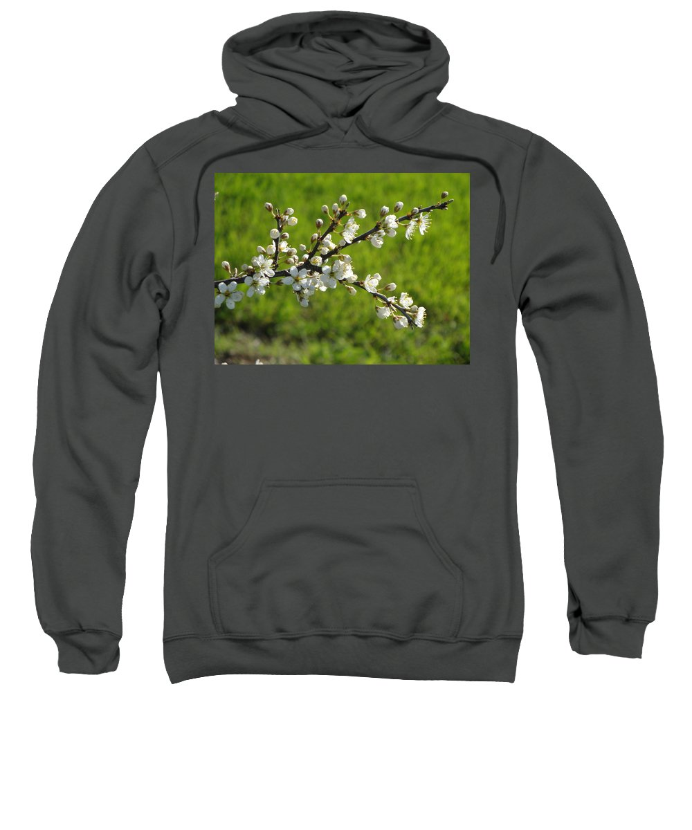Flora Sweatshirt featuring the photograph Pride Of The Hedgerow by Susan Baker