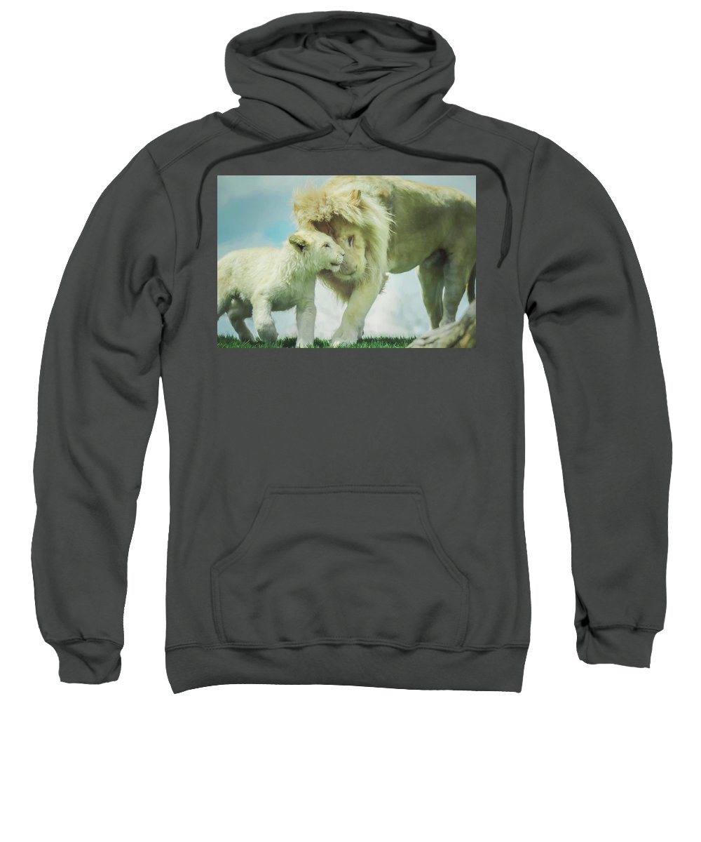 Pride Sweatshirt featuring the photograph Pride Painting by Carrie Ann Grippo-Pike