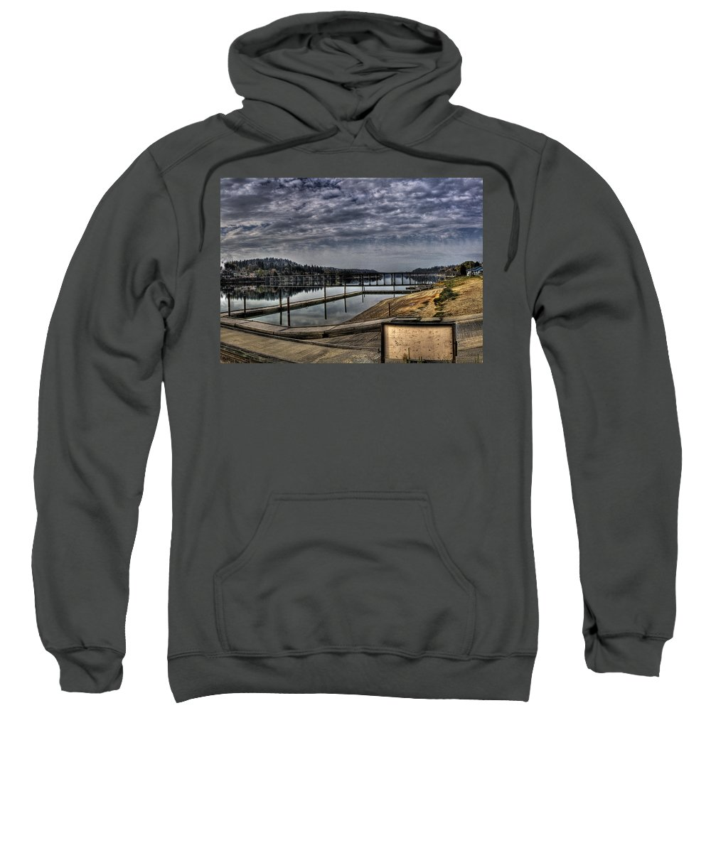 Hdr Sweatshirt featuring the photograph Priest River Panorama 6 by Lee Santa