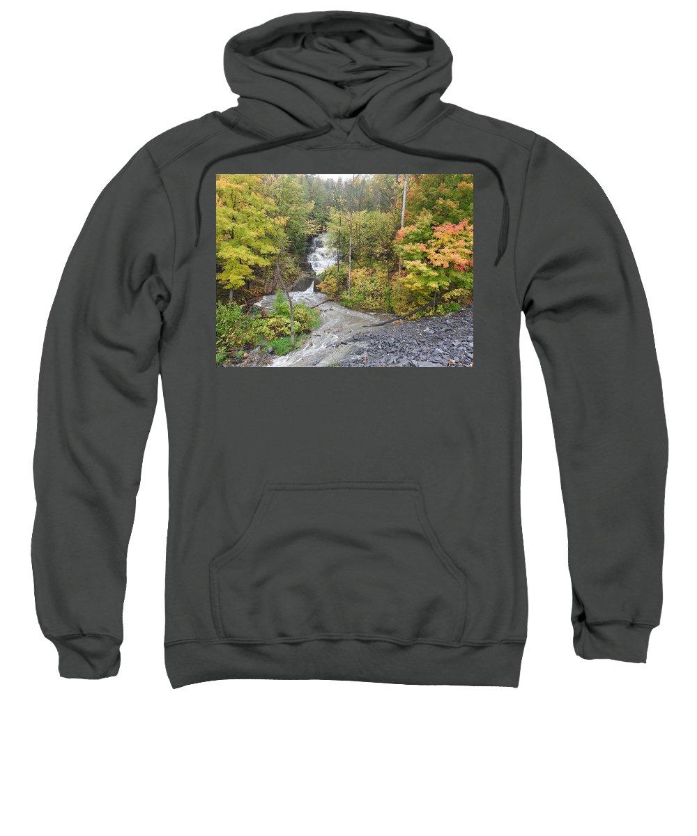 Waterfalls Sweatshirt featuring the photograph Princess Louise Falls by Betty-Anne McDonald