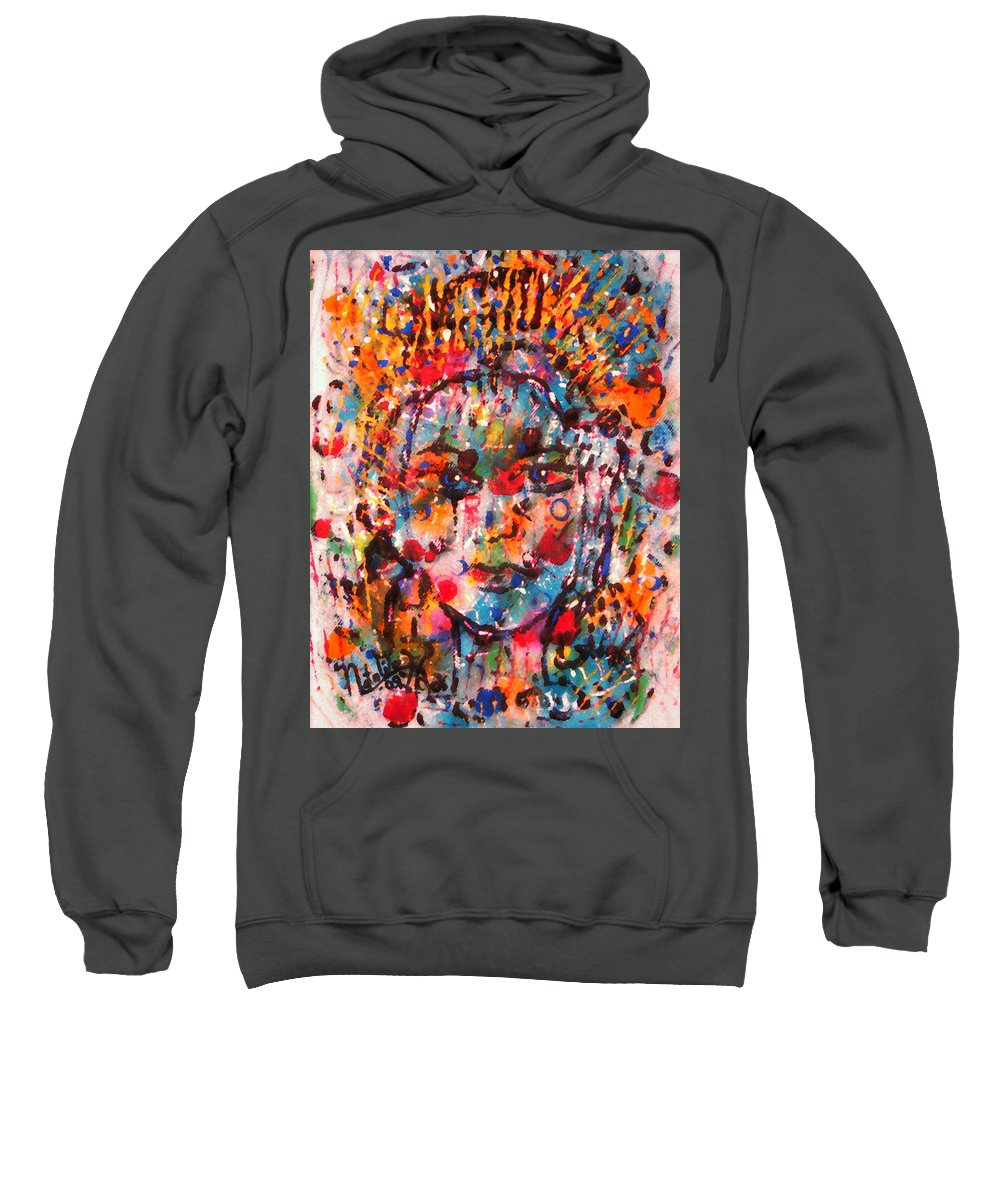 Happiness Sweatshirt featuring the painting Princess Of Happiness by Natalie Holland