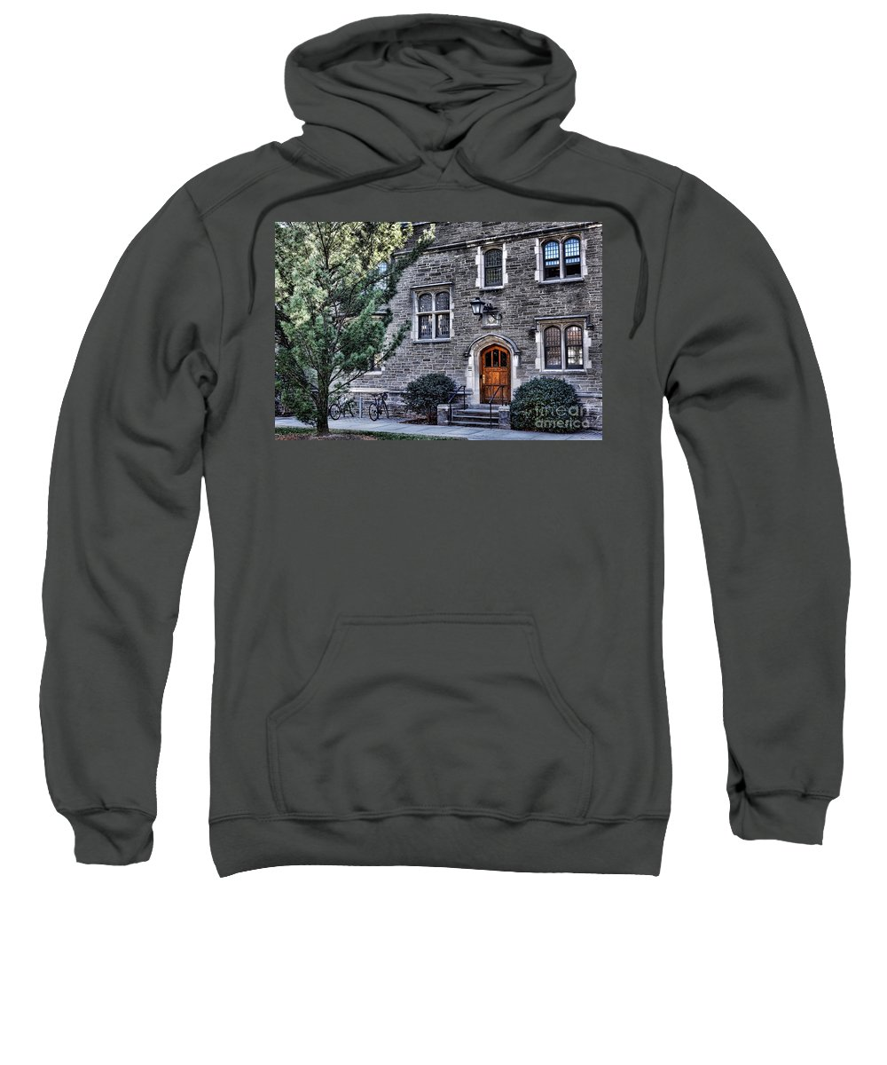Princeton Sweatshirt featuring the photograph Princeton University Little Hall by Olivier Le Queinec