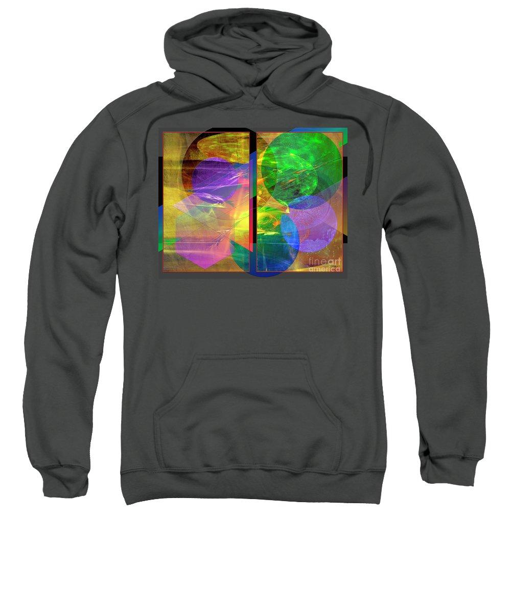 Progressive Intervention Sweatshirt featuring the digital art Progressive Intervention by John Beck