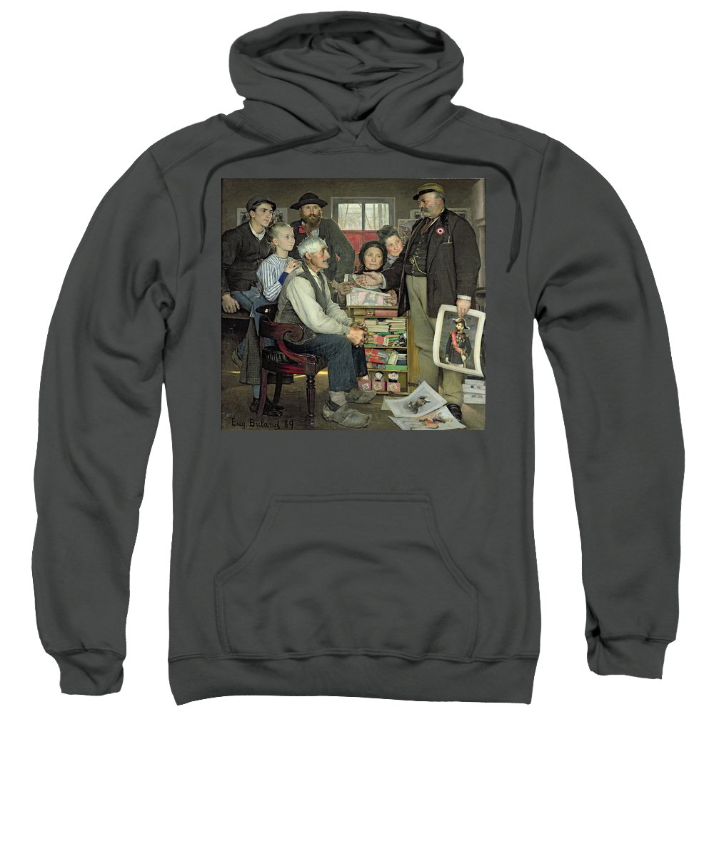 Propaganda Sweatshirt featuring the painting Propaganda by Jean Eugene Buland
