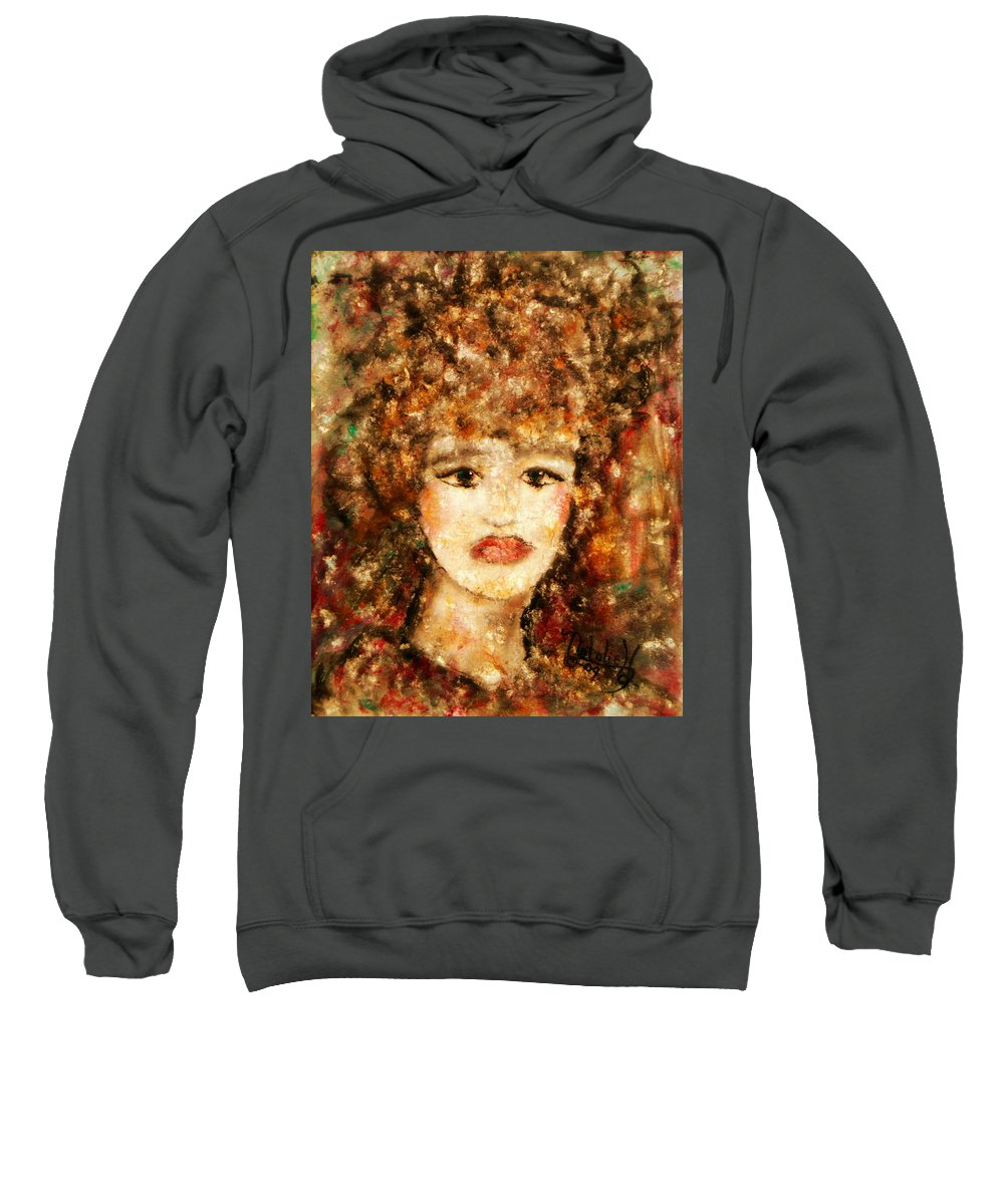 Female Sweatshirt featuring the painting Proud Sarah by Natalie Holland