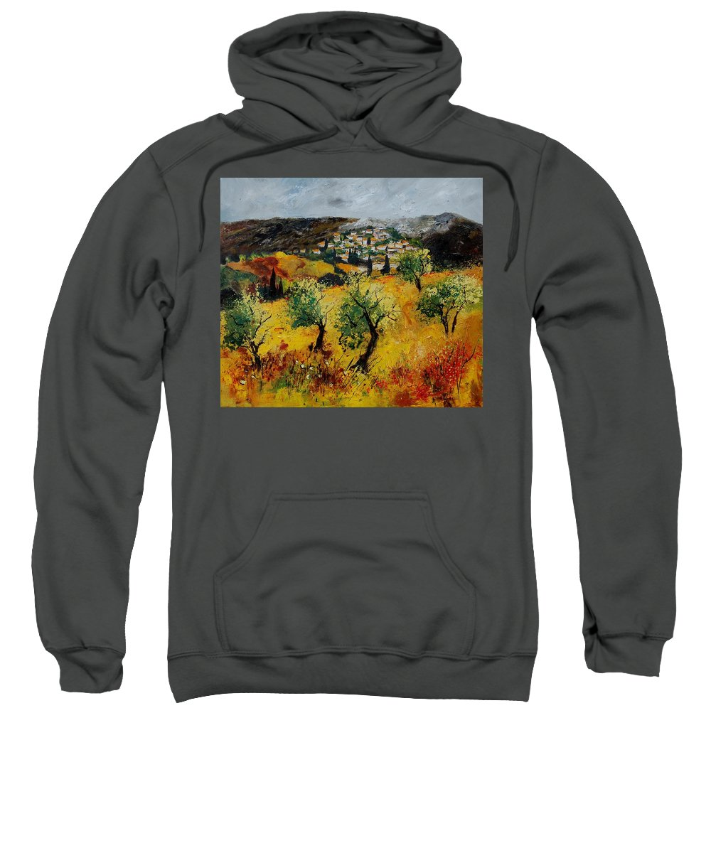 Provence Sweatshirt featuring the painting Provence 789080 by Pol Ledent