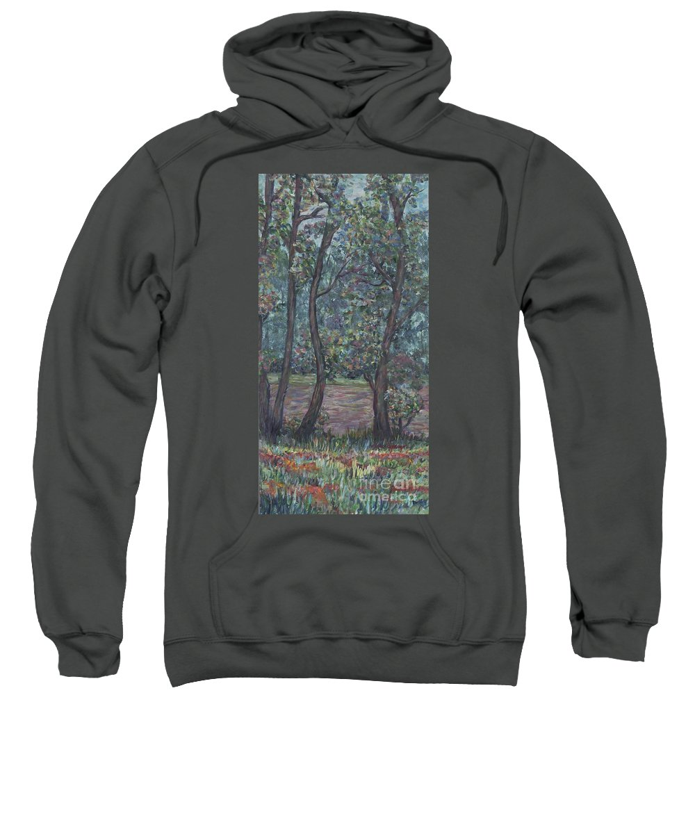 Landscape Sweatshirt featuring the painting Provence Flowers by Nadine Rippelmeyer