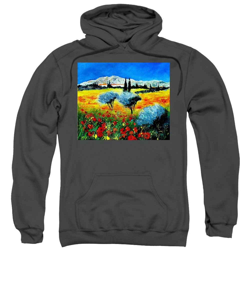 Poppies Sweatshirt featuring the painting Provence by Pol Ledent