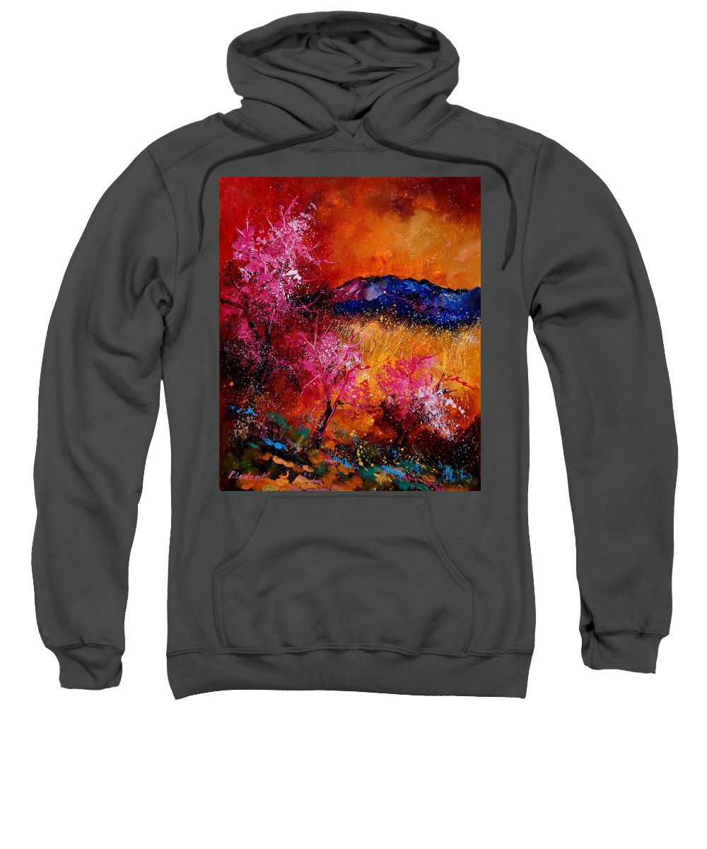 Provence Sweatshirt featuring the painting Provence560908 by Pol Ledent