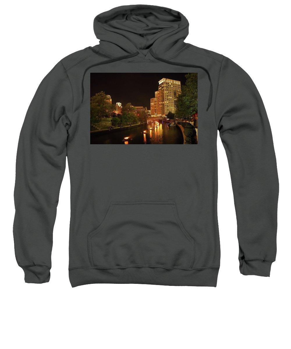 Providence Sweatshirt featuring the photograph Providence Waterfire by Eddy Bernardo