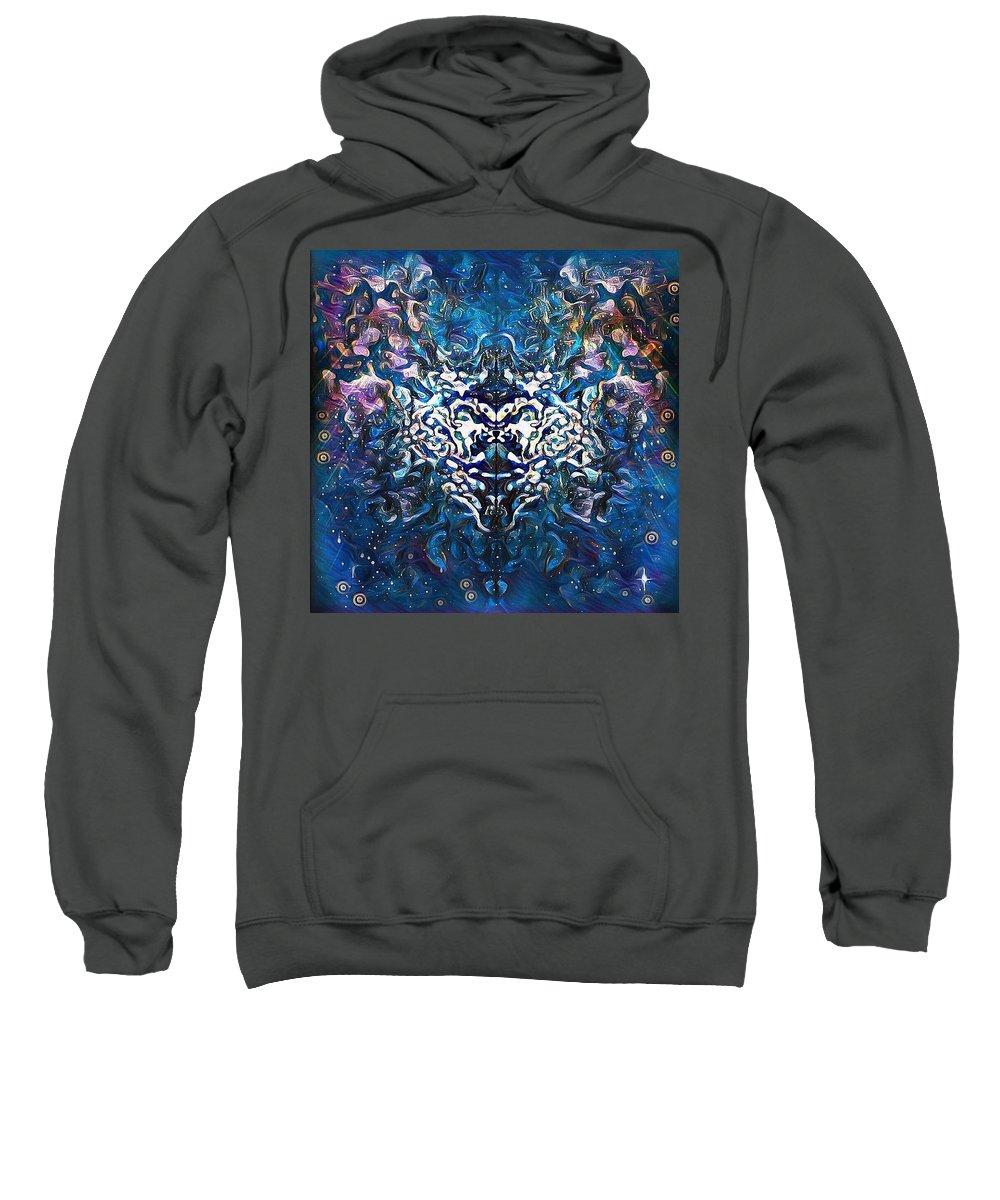 Sweatshirt featuring the digital art Prudence's Prayer by Julia Beck