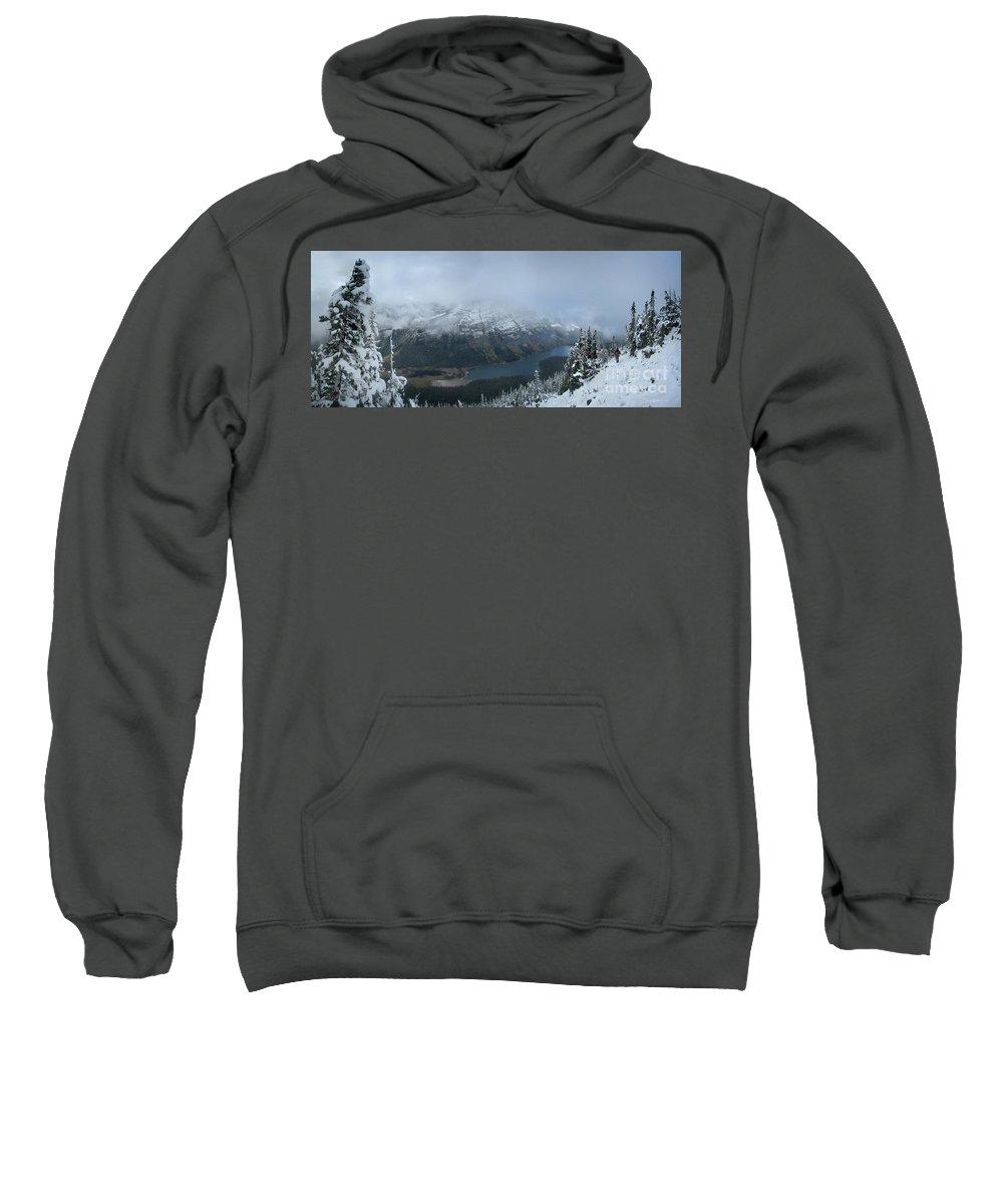 Glacier National Park Sweatshirt featuring the photograph Ptarmigan Trail Overlooking Elizabeth Lake 3 - Glacier National Park by Bruce Lemons