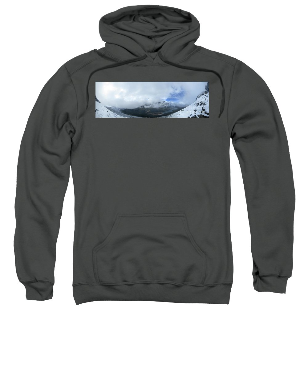 Glacier National Park Sweatshirt featuring the photograph Ptarmigan Trail Overlooking Elizabeth Lake - Glacier National Park by Bruce Lemons
