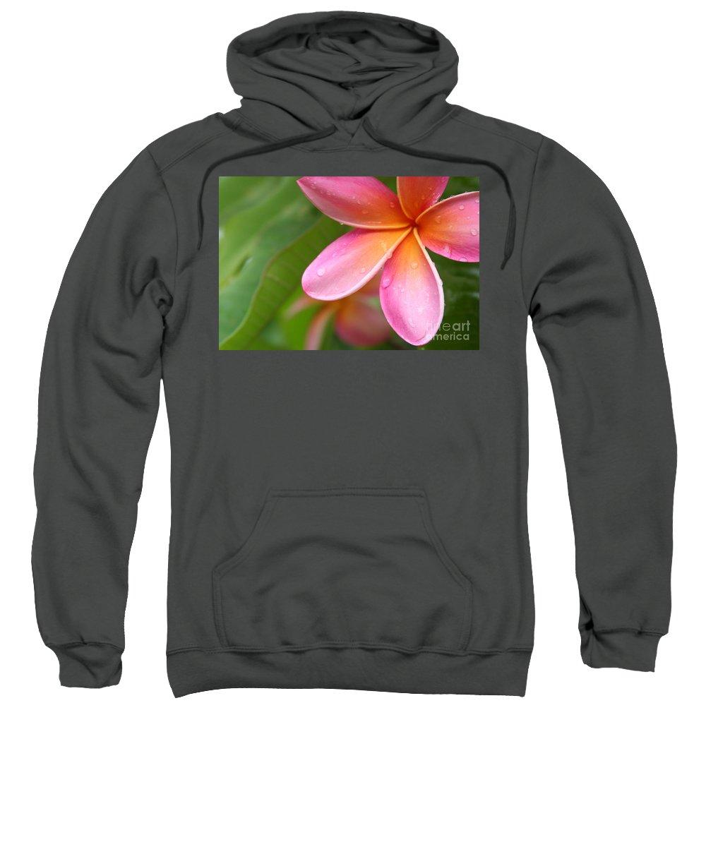Aloha Sweatshirt featuring the photograph Pua Melia Earth Heart by Sharon Mau